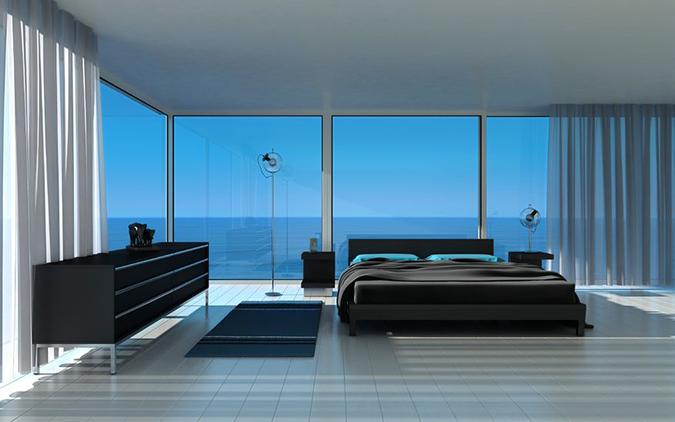 Il letto a centro stanza unico protagonista for Stanza da letto matrimoniale