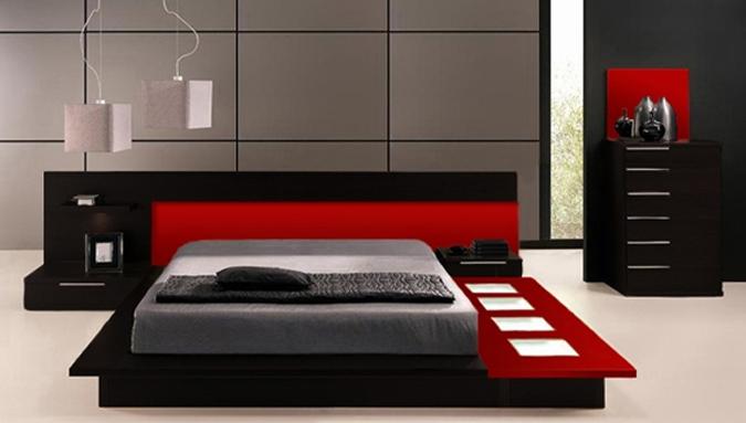 Il letto a centro stanza unico protagonista for Stanza giapponese