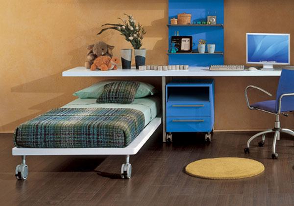 Il letto singolo si associa alla stanza dei bambini o dei for Dimensioni letto singolo