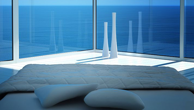 Spettacolare panorama visto dal letto