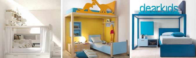 Il letto a castello nella cameretta dei ragazzi
