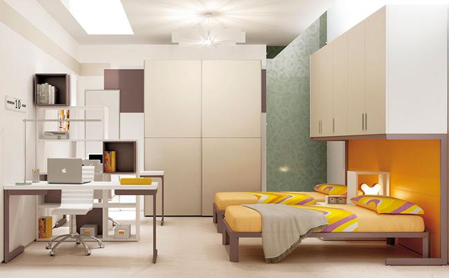 Cameretta con doppio letto a scomparsa images - Camera per due ragazzi ...