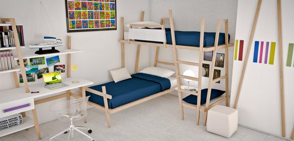 Come scegliere il letto adatto alla cameretta dei ragazzi - Camera per 2 ragazzi ...